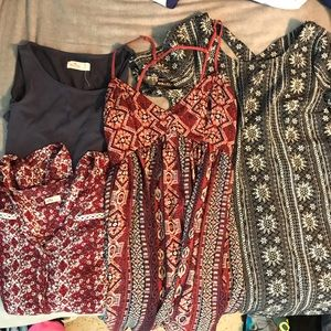 Set of Hollister tops and dresses